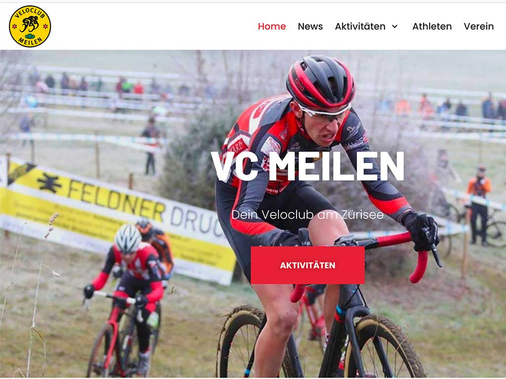 Veloclub Meilen Website Screenshot
